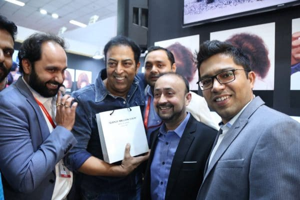 Vindu Dara Singh, a proud user of Super Million Hair, visited SMH Transformation Booth at Professional Beauty 2018 - Delhi